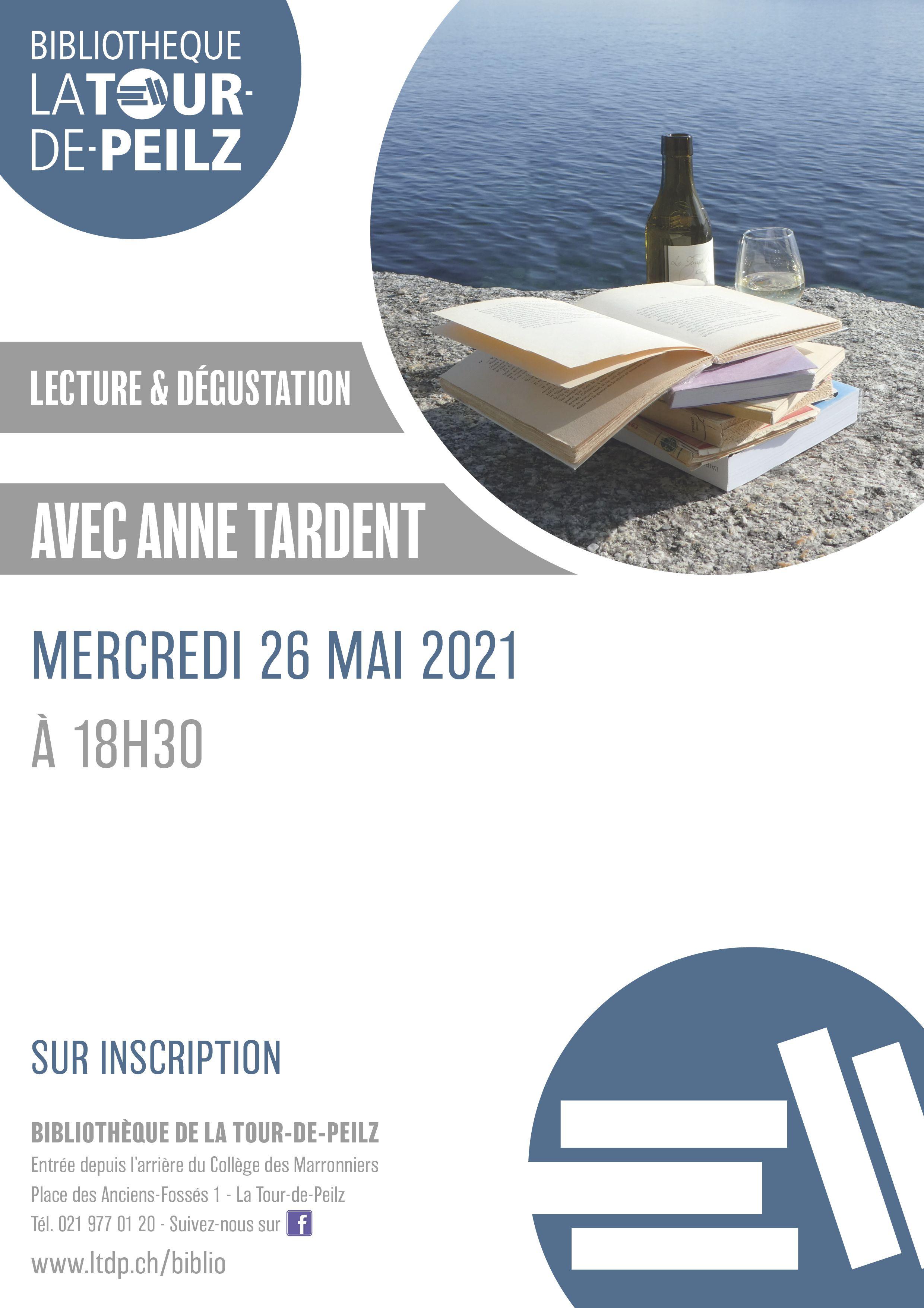 Lecture et dégustation avec Anne Tardent